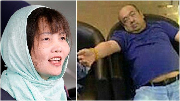 Doan Thi Huongová sa dostane na slobodu v máji. Posledná fotka Kim Čong-nama po otrave. Foto - TASR/AP