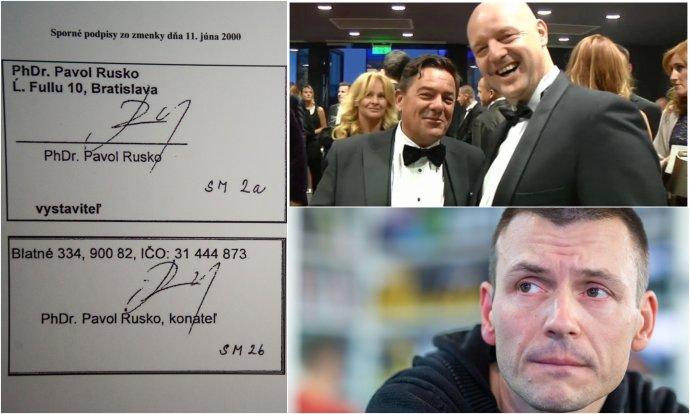 Sporné zmenky, Kočner s Ruskom a Peter Tóth. Foto – N, TASR