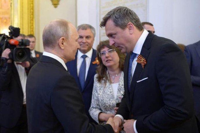 Andrej Danko sa v máji pochválil krátkym stretnutím s prezidentom Putinom. Foto - FB Andreja Danka