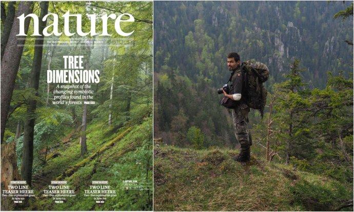 Prales vo Veľkej Fatre na titulke Nature a autor fotografie Ondrej Kameniar. Foto – Ondrej Kameniar a Mário Duchoň
