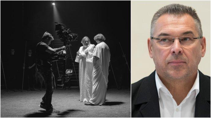 Zábery z nakrúcania a programový riaditeľ RTVS Marek Ťapák. Foto - RTVS a TASR