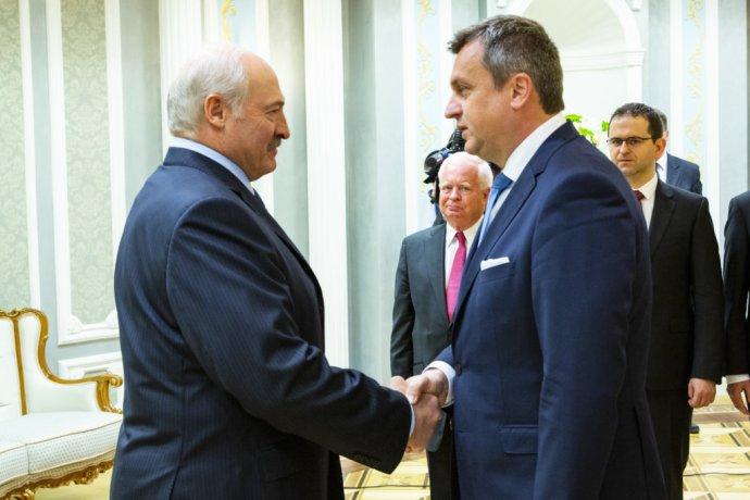 Alexandr Lukašenko a Andrej Danko počas júnovej cesty v Bielorusku. Foto - TASR
