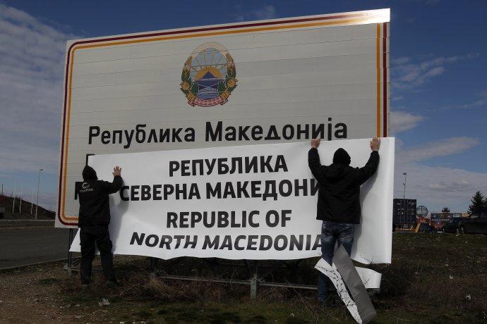 Macedónsko vo februári oficiálne zmenilo svoj názov na Severné Macedónsko. Hlavnou motiváciou bol vstup do EÚ a NATO. Foto - TASR/AP