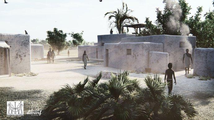Na ulici hyksóskeho sídliska. Foto – Nadácia Aigyptos