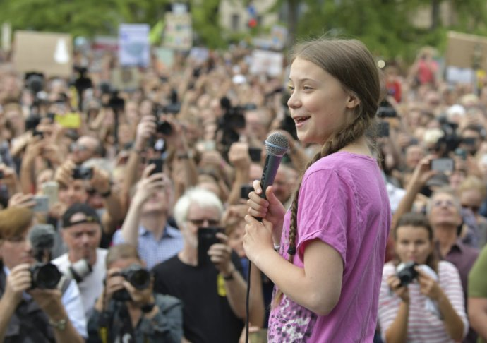 Greta Thunbergová. Foto - TASR/AP