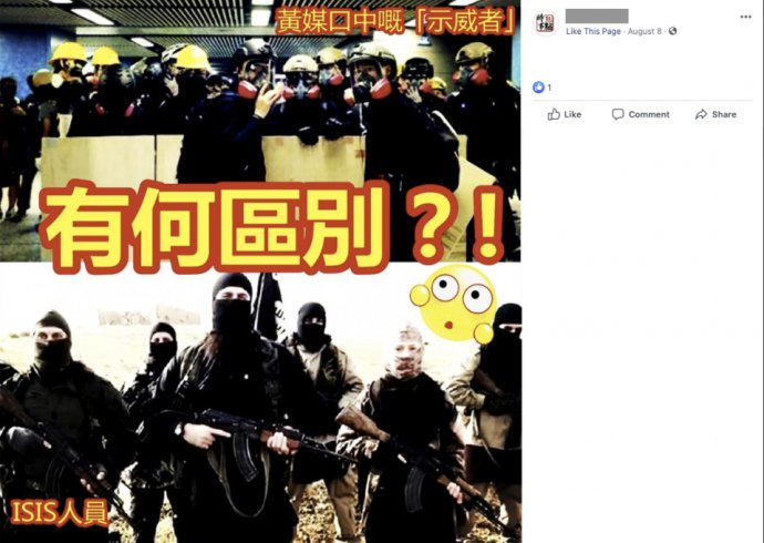 Demonštranti z Hongkongu a ISIS. Vidíte nejaký rozdiel? Foto - Facebook