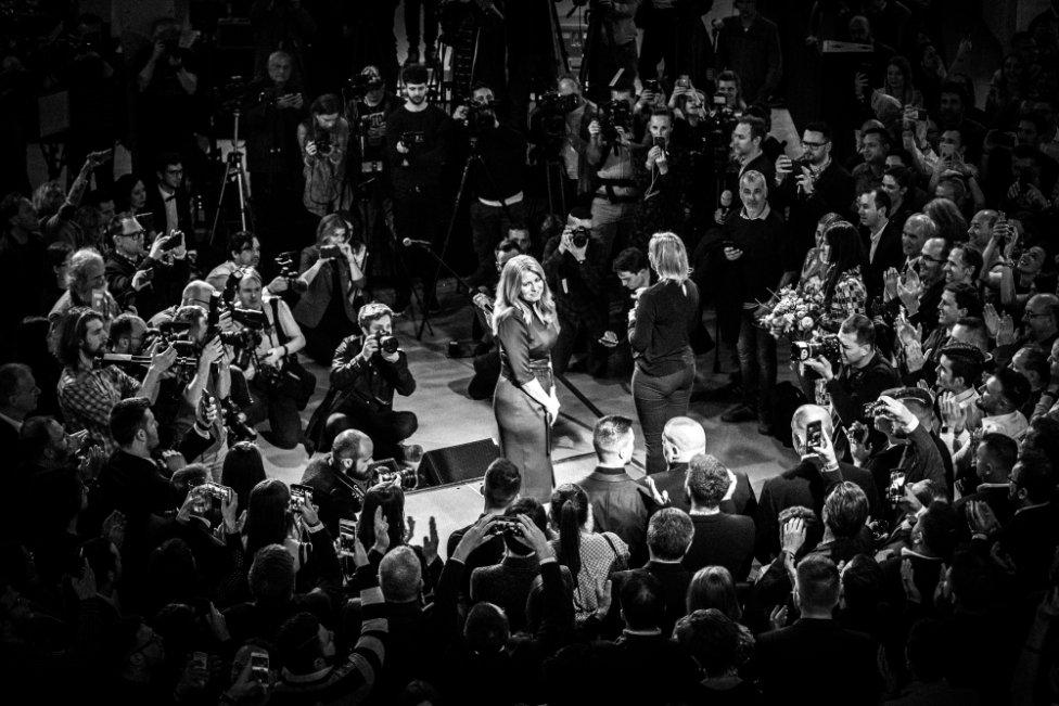 Noc s prezidentkou - víťazná séria Slovak Press Photo. Foto - Jozef Jakubčo