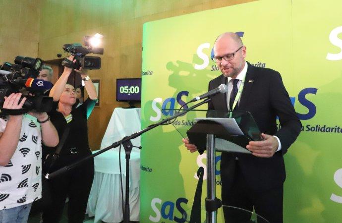 Richard Sulík po mimoriadnom sneme. Foto – TASR