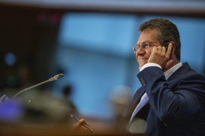 Maroš Šefčovič na vypočutí v Európskom parlamente. Foto - TASR/AP
