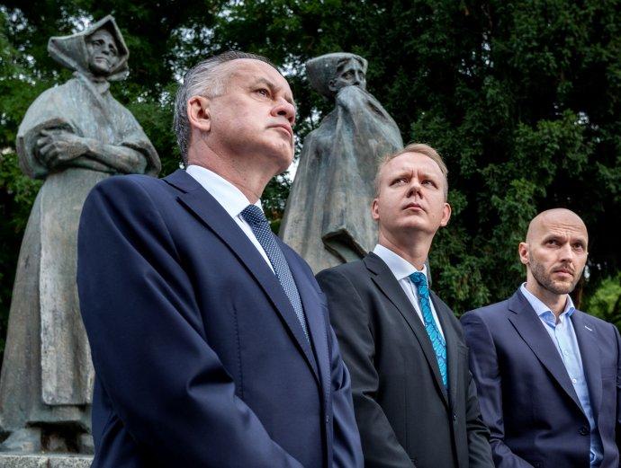 Andrej Kiska, Miroslav Beblavý a Michal Truban. Foto N - Tomáš Benedikovič