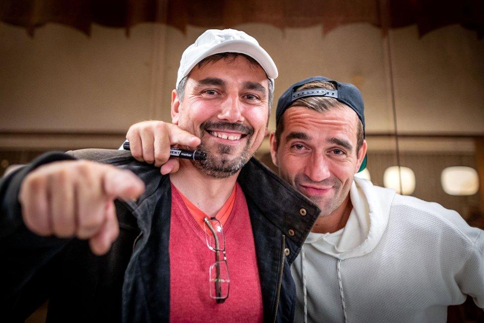 Milan Ondrík a Jozef Mikyta, ktorého predobrazom bola filmová postava otca. Foto N - Tomáš Benedikovič