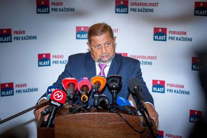 Štefan Harabin v októbri oznámil, že ide do parlamentných volieb ako líder novej strany Vlasť. Foto N - Tomáš Benedikovič