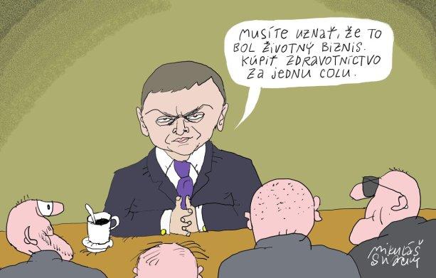Kresba Mikuláš Sliacky, SME