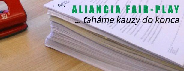Nástenkový tender - nové trestné oznámenie Aliancie Fair-play