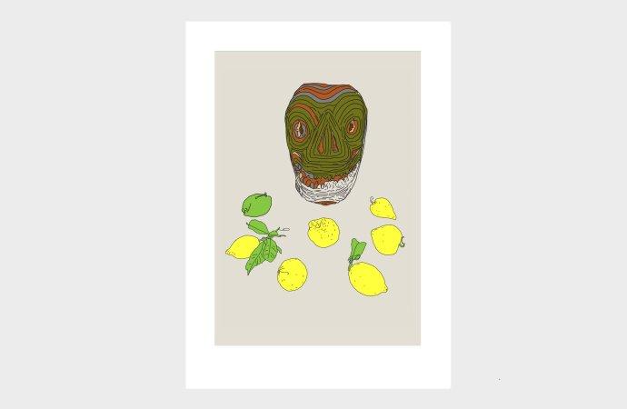 Terenove grafiky: Maska s citrónmi