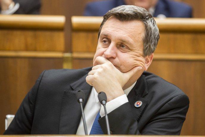 Andrej Danko na poslednej parlamentnej schôdzi 21. januára 2020. Foto - TASR