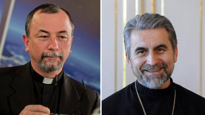 Arcibiskup Cyril Vasiľ a vladyka Milan Chautur. Foto - TASR