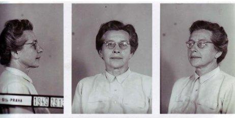 Väzobná fotografia Milady Horákovej. Zdroj – Archiv bezpečnostních složek ČR