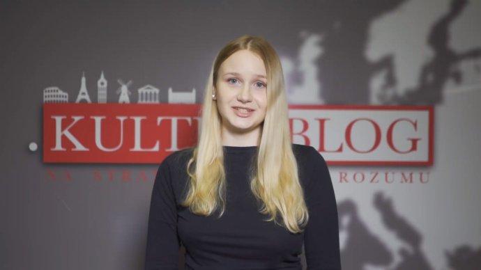 Študentka Lívia Garčalová, tvár Kulturblogu, ktorý spolupracuje s ĽSNS. Reprofoto - Denník N