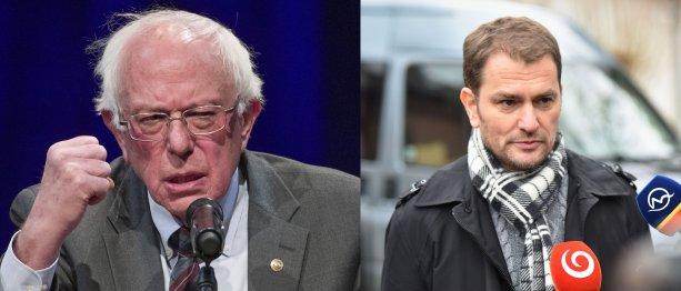 Bernie Sanders (vľavo) a Igor Matovič. Foto – TASR/AP