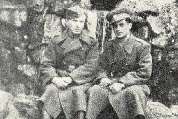 Arnošt Steiner s jeho otcom v Buzuluku