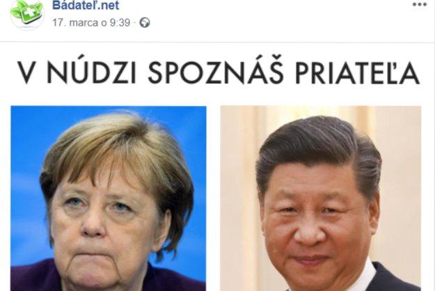 Memečka na podporu Číny sa už šíria aj medzi slovenskými používateľmi, toto vyprodukovala šarlatánska stránka Bádateľ.