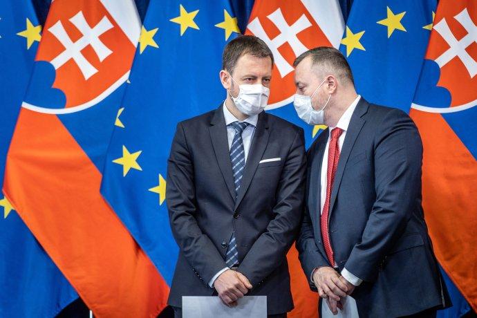 Ministri Eduard Heger a Milan Krajniak Foto N - Tomáš Benedikovič