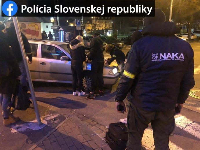 Protidrogový zásah NAKA. Foto - Polícia