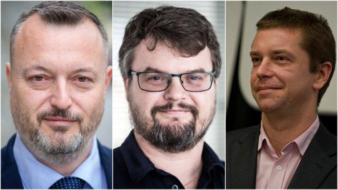 Nominanti hnutia Sme rodina na ministerské posty: Milan Krajniak, Štefan Holý a Andrej Doležal. Foto - N a TASR