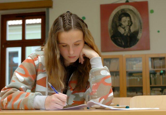 Deviataci budú môcť robiť prijímacie skúšky na stredné školy. Foto - TASR