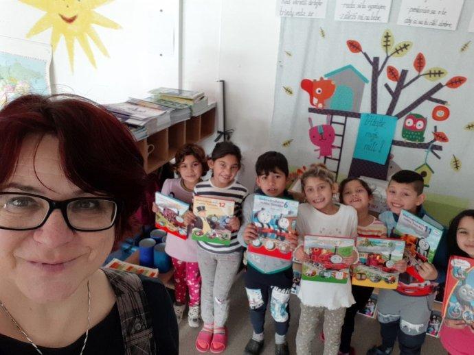 Monika Podolinská so svojimi žiakmi. Foto – Archív M. Podolinskej
