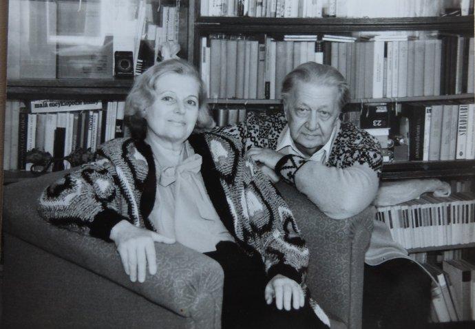 S manželom Ivanom Hrušovským. Foto - archív M. H.