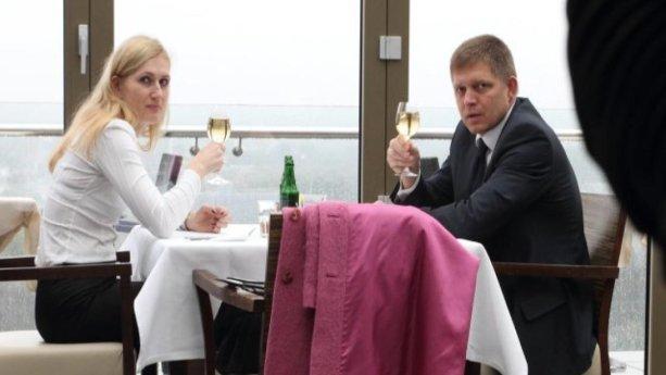 Krajská prokurátorka Soňa Juríčková na stretnutí s Robertom Ficom. Zdroj: Plus 1 deň, uverejnené so súhlasom denníka