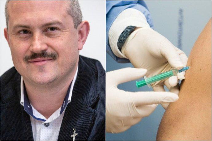 """Marian Kotleba si myslí, že cez očkovanie bude niekto do ľudí vpichovať """"nanočipy"""" a tým ich ovládať. Foto - N, TASR"""