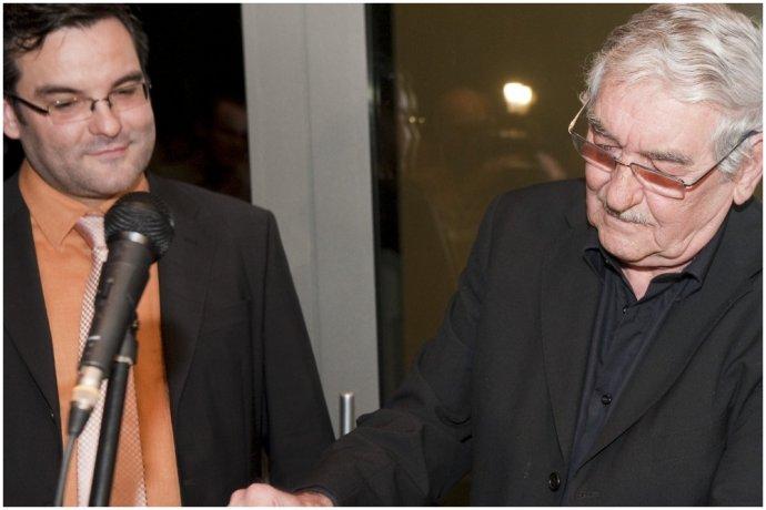 Martin Kvietik (vľavo) s otcom Štefanom Kvietikom na archívnej fotografii z roku 2010. Foto - TASR