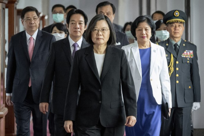Taiwanská prezidentka Tsai Ing-wen na slávnostnej inaugurácii. Foto - TASR/AP