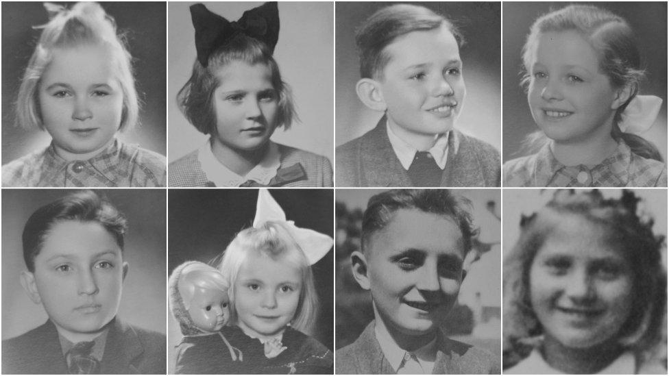 Niekoľko zo 45 detí z východného Slovenska, ktoré Květa Bartoňová Axmanová zachránila. Foto - Post Bellum