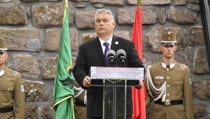 Viktor Orbán počas prejavu. Foto - Abouthungary.hu