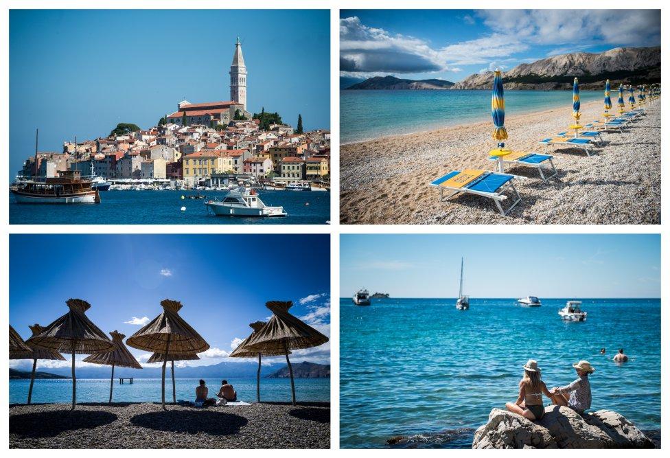 Mesto Rovinj a prázdne pláže na ostrove Krk. Foto N - Vladimír Šimíček
