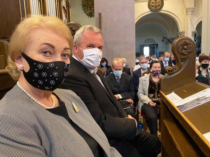 Poslankyňa Anna Záborská na návšteve v Spišskej diecéze. Foto - Facebook Anny Záborskej