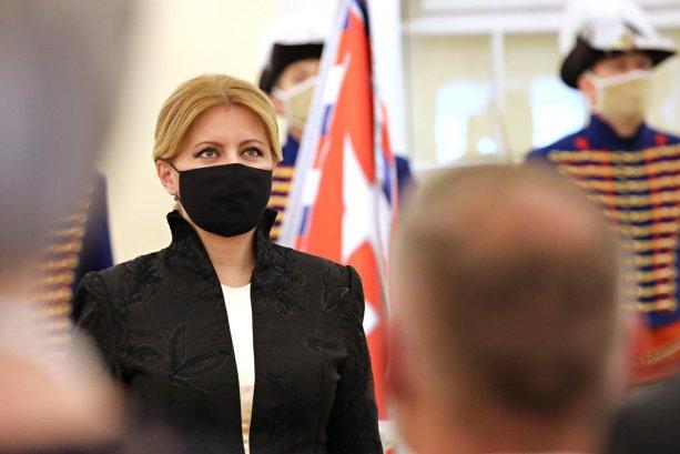 Prezidentka Zuzana Čaputová počas vymenovania profesorov zo 14.07.2020 (Zdroj: Facebook / Zuzana Čaputová)