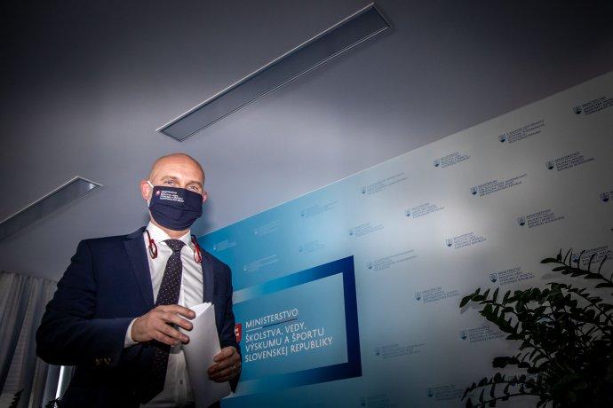 Minister školstva Branislav Gröhling (SaS) si rozhneval vysoké školy. Obviňujú ho zo snahy o ich spolitizovanie. Foto N - Tomáš Benedikovič