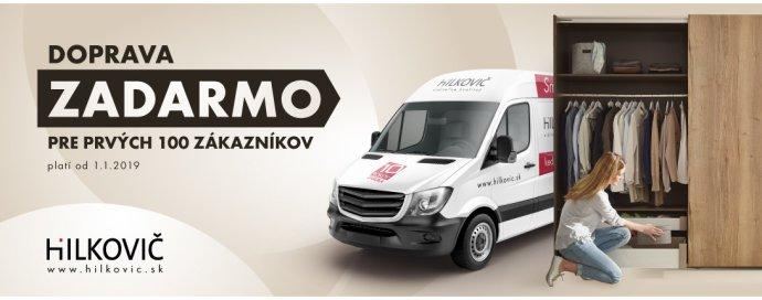 Už neaktuálna reklama firmy Hilkovič pre začiatok roka 2019. Zdroj - hilkovic.sk