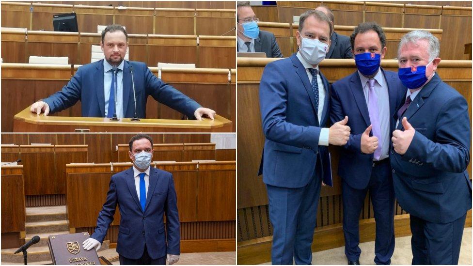 Poslanec Martin Čepček. Foto - Facebook Martina Čepčeka a TASR