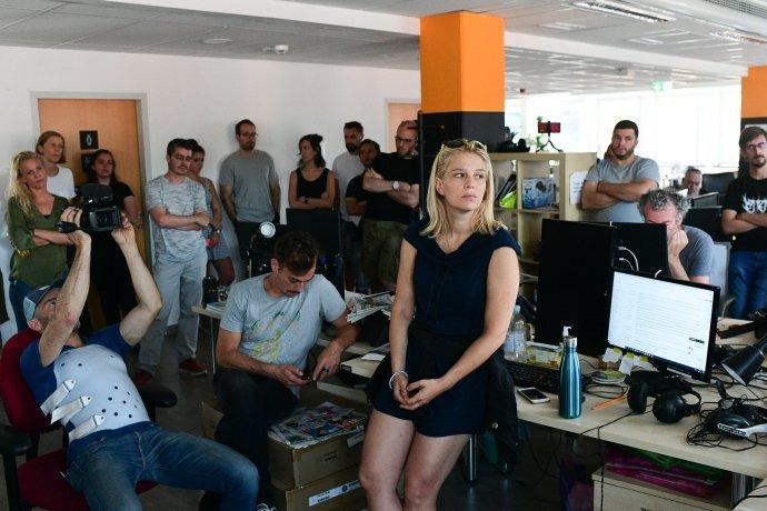 Deň, keď redaktori Indexu dali hromadnú výpoveď. Foto - Index.hu