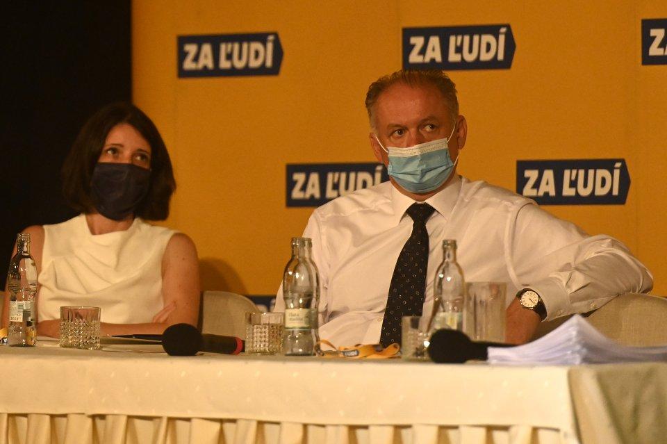 Jana Žitňanská a Andrej Kiska. Foto: TASR