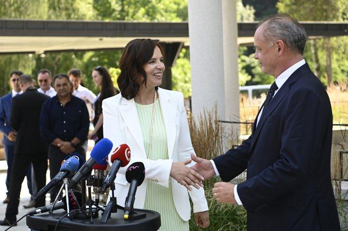 Veronika Remišová a Andrej Kiska. Foto – TASR