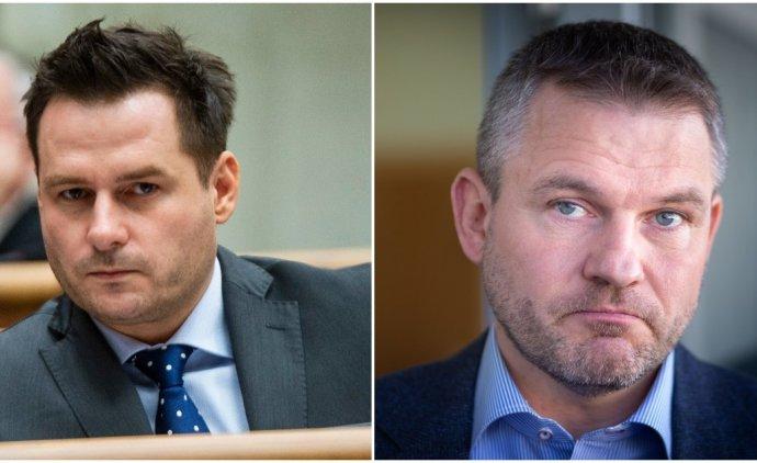 Peter Náhlik a Peter Pellegrini. Foto – TASR a N/Tomáš Benedikovič
