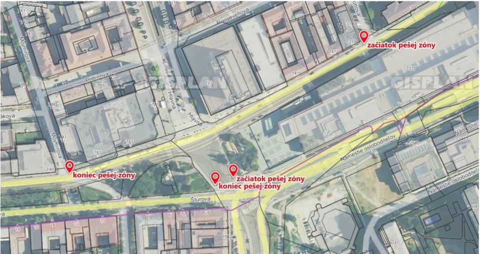 Rozšírenie pešej zóny v Košiciach. Foto - mesto Košice