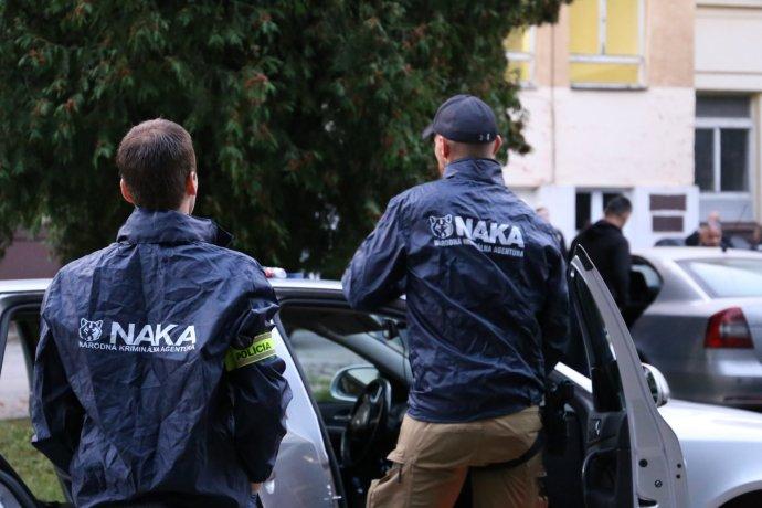 NAKA pri zásahu v Žiline. Foto - FB Polície SR